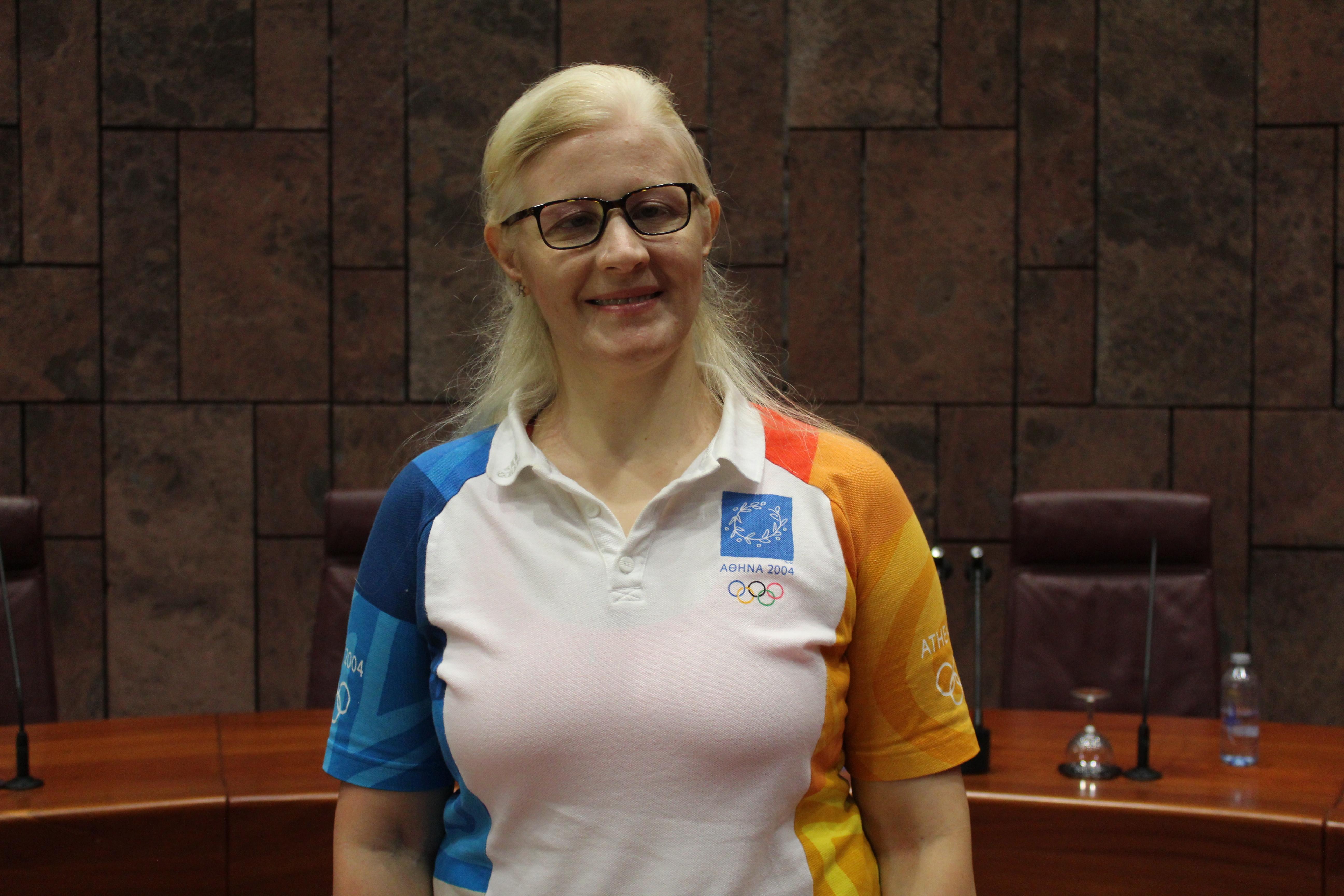 La judoca paralímpica Carmen Herrera
