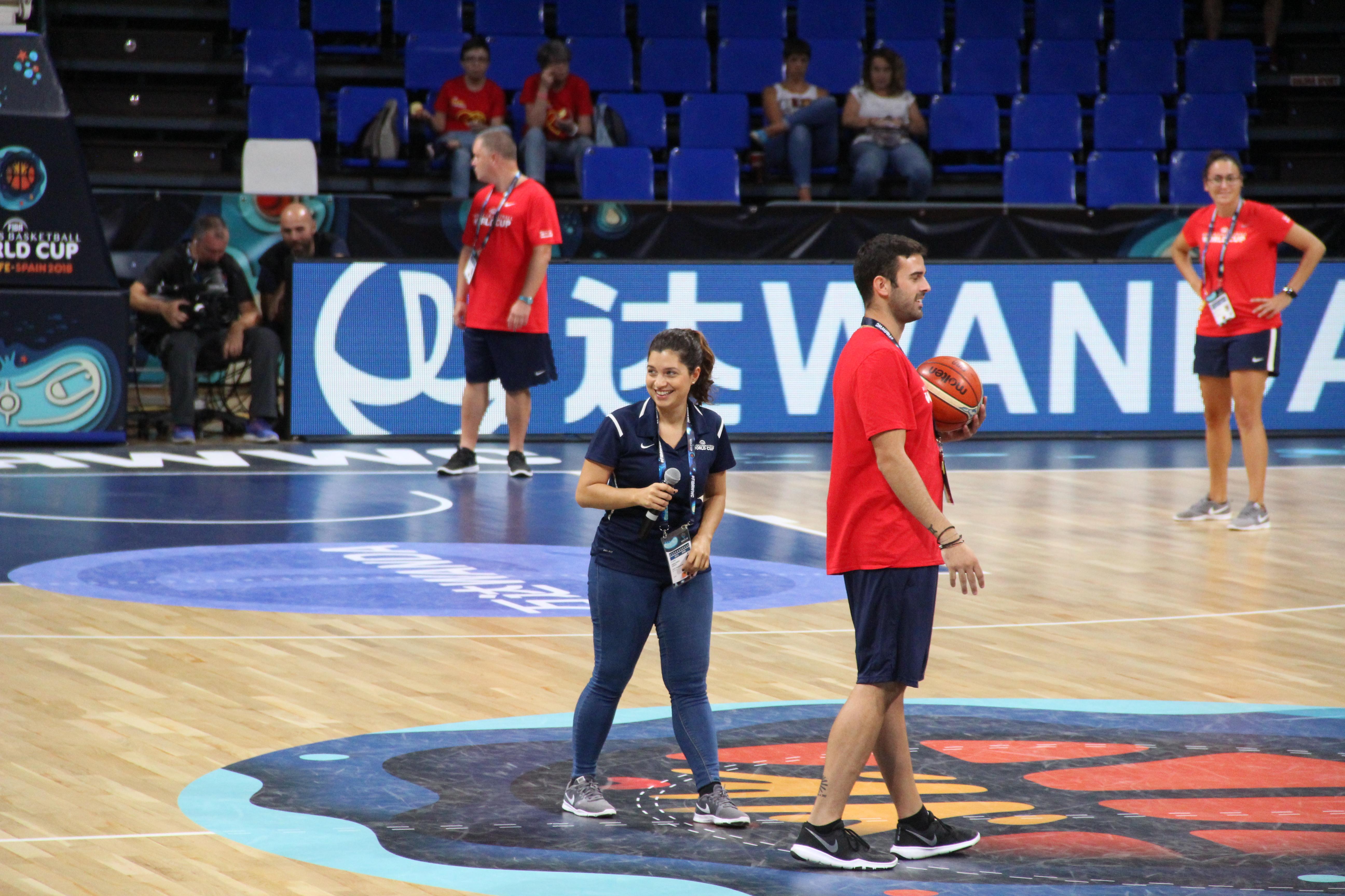 Deborah Sabina durante la celebración de la Copa del Mundo de Baloncesto Femenino FIBA 2018. Foto: Ivone Palenzuela.